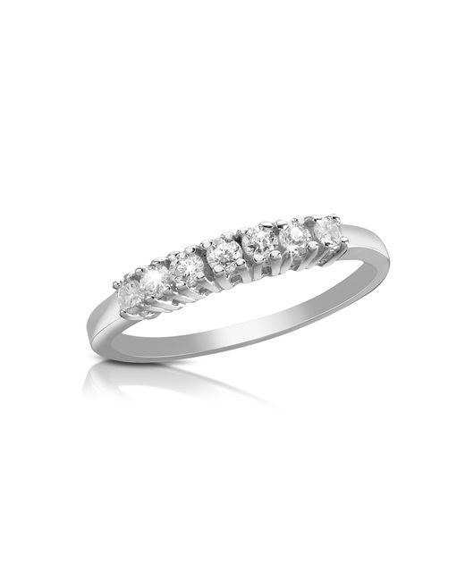 Forzieri - Multicolor 0.24 Ct Diamond 18k Gold Band Ring - Lyst