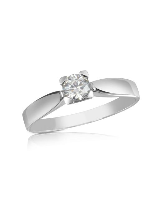 Forzieri - White 0.23 Ctw Diamond Solitaire Ring - Lyst