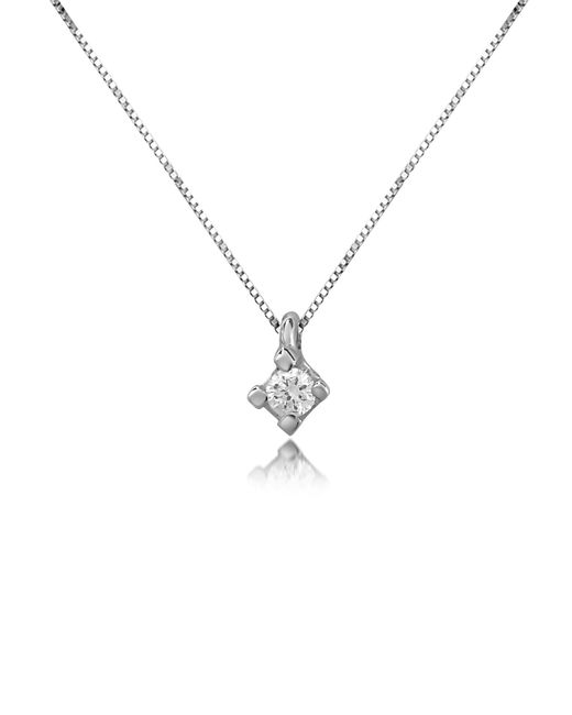 Forzieri - Metallic 0.03 Ct Diamond Solitaire Pendant 18k Gold Necklace - Lyst