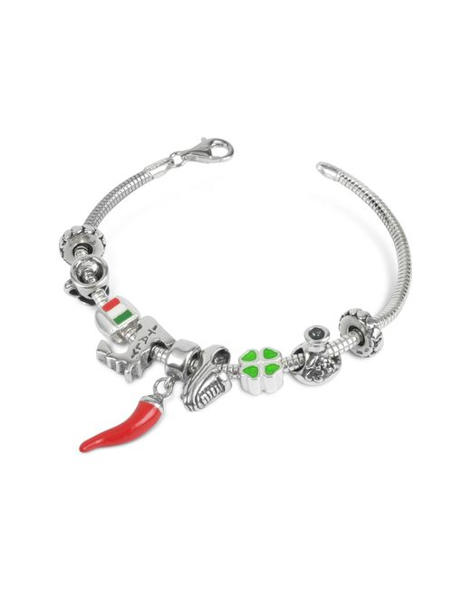 Tedora Metallic Sterling Silver Italian Journey Bracelet