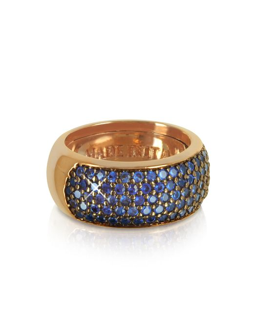 Azhar - Pink Blue Cubic Zirconia Silver Vermeil Ring - Lyst