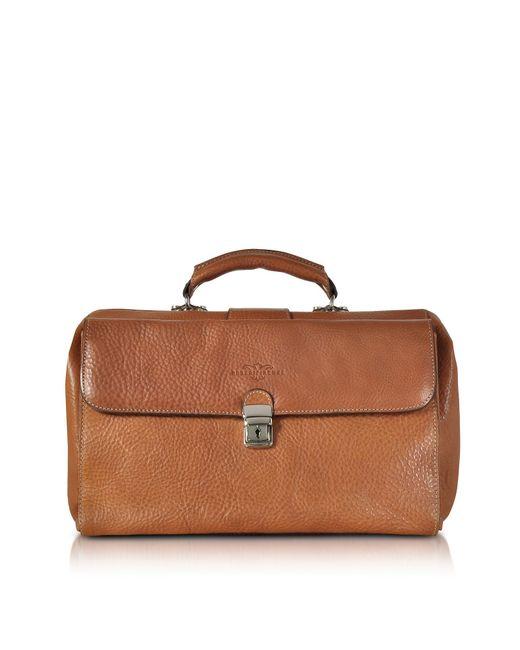 Robe Di Firenze - Brown Medium Genuine Italian Leather Doctor Bag for Men - Lyst