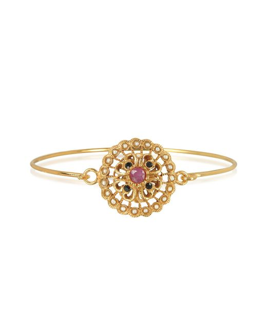 Alcozer & J - Metallic Mandala Bracelet W/semi Precious Stones - Lyst