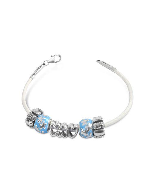 Tedora - Blue Baby Boy Sterling Charm Bracelet - Lyst