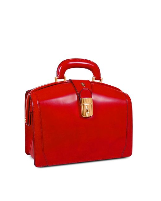Pratesi Red Ladies Polished Italian Leather Briefcase