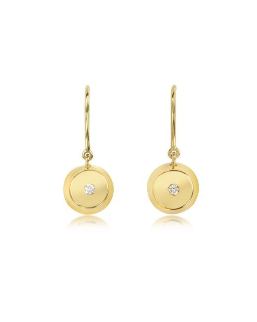 Aurelie Bidermann | Metallic Telemaque 18k Gold And Diamond Bell Earrings | Lyst