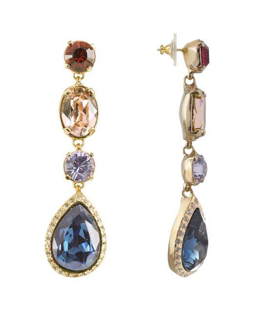 AZ Collection Blue Multicolor Drop Earrings