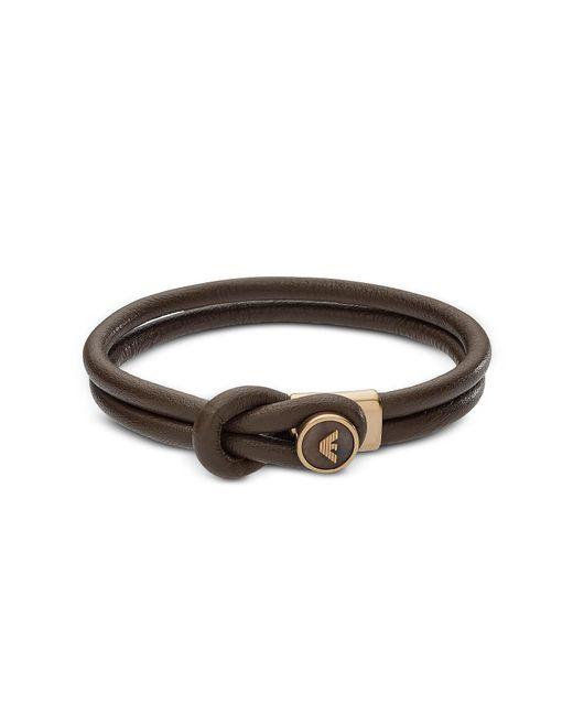 Emporio Armani - Brown Egs2213251 Signature Men's Bracelet for Men - Lyst