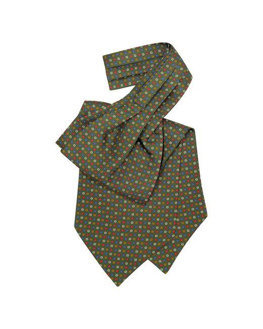 Forzieri - Green Multicolor Floral Print Silk Ascot for Men - Lyst