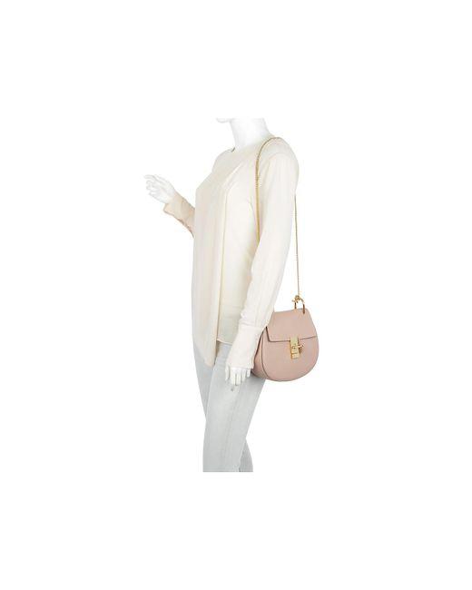 ... Chloé - Drew Crossbody Bag Cement Pink - Lyst ... db1815667889d