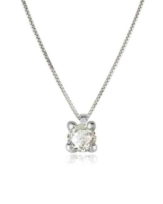 Forzieri - 0.31 Ctw Diamond Vanity Pendant 18k White Gold Necklace - Lyst