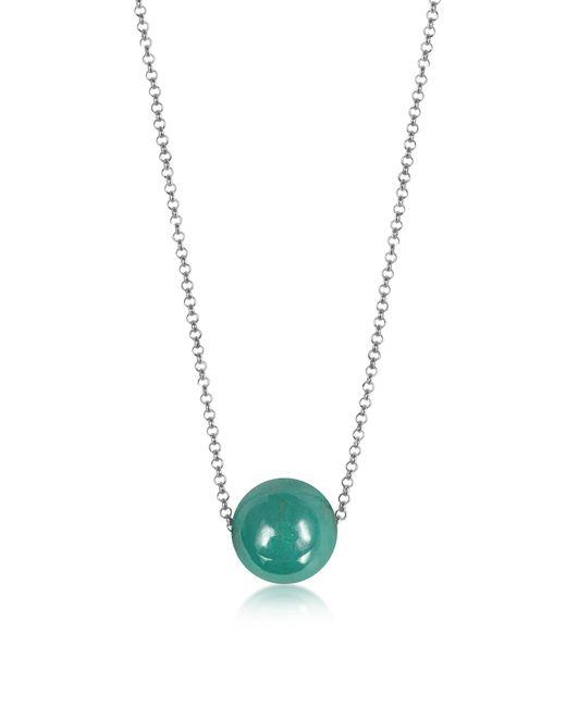 Antica Murrina - Blue Perleadi Turquoise Murano Glass Bead Chain Necklace - Lyst