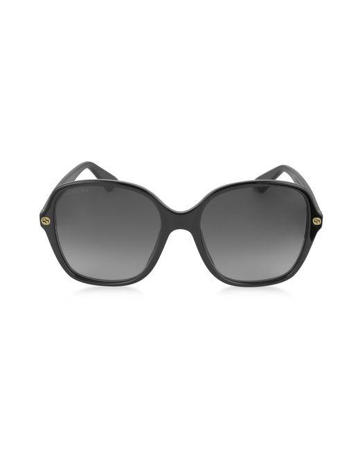 Gucci - Black GG0092S Acetate Square Women's Sunglasses - Lyst