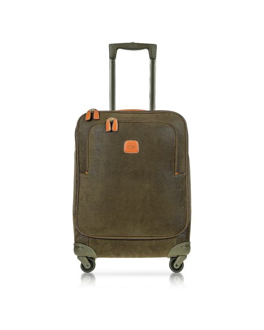 Bric's - Life Olive Green Micro Suede Small Trolley for Men - Lyst