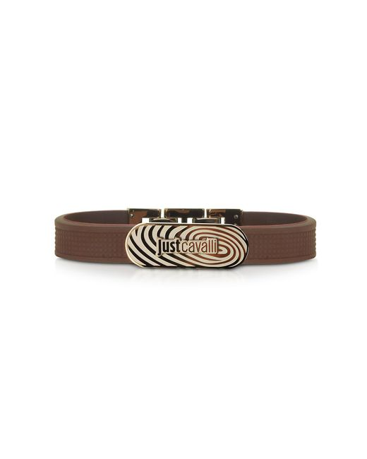 Just Cavalli | Touch Brown Silicon Men's Bracelet for Men | Lyst
