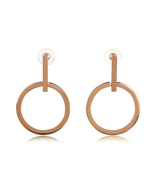 Vita Fede Metallic Antonia Rose Gold Tone Hoop Earrings