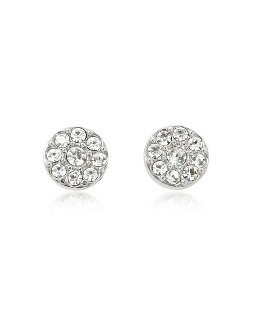 Fossil - Metallic Vintage Glitz Silvertone Women's Earrings - Lyst