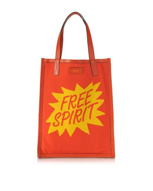 Paul Smith | Men's Orange And Yellow Free Spirit Print Tote Bag | Lyst