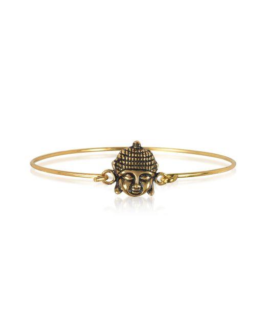 Alcozer & J - Metallic Brass Buddha Bangle - Lyst