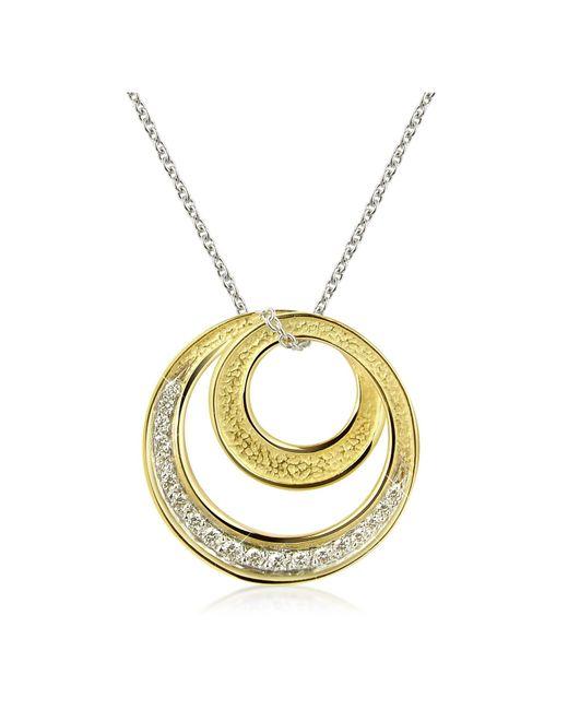 Torrini Metallic Infinity 18k Yellow Gold Diamond Pendant Necklace