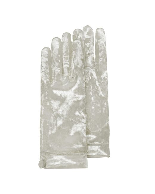 Forzieri - Women's White Chenille Gloves - Lyst