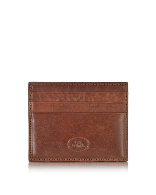 The Bridge - Brown Story Uomo Leather Credit Card Holder for Men - Lyst ... a0653118e0