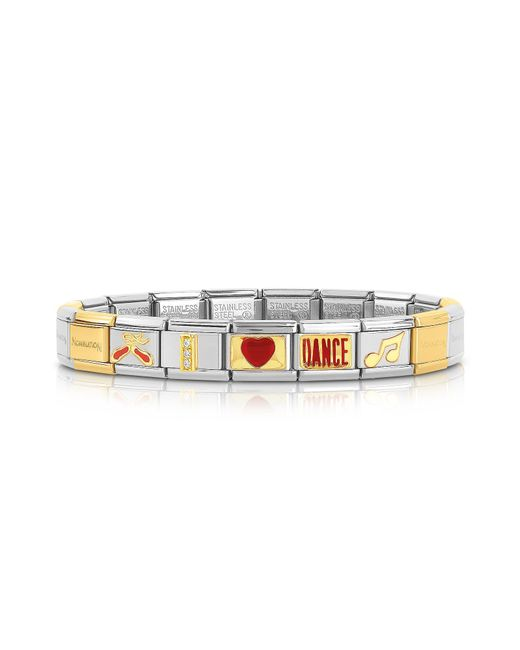 Nomination | Metallic Classic I Love Dance Gold And Stainless Steel Bracelet | Lyst