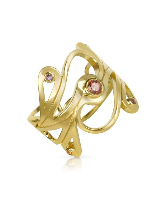 Sho London | Metallic Silver Vermeil Mari Splash Ring | Lyst