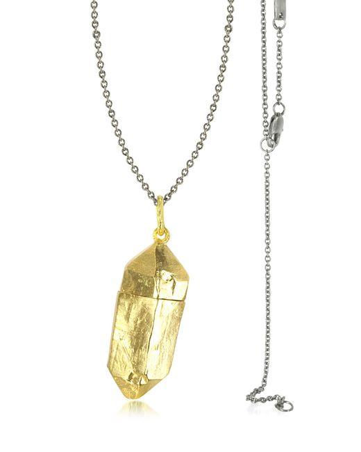 Bjorg - Metallic Magic Hour - Rock Box Golden Charm Necklace - Lyst
