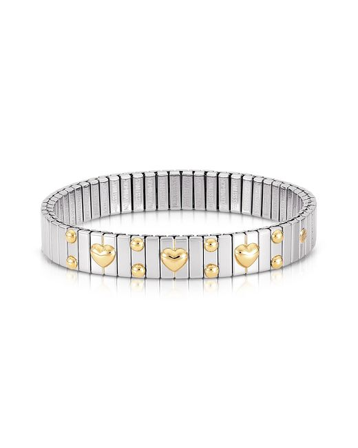Nomination - Metallic Amore Stainless Steel W/golden Heatrs Women's Bracelet - Lyst