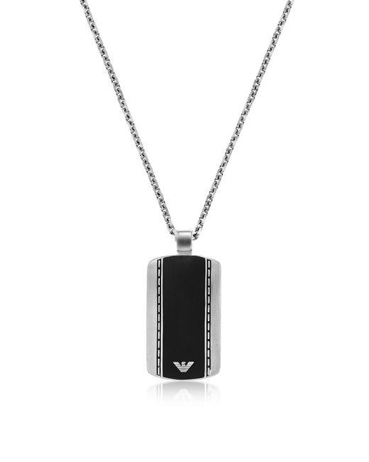 Emporio Armani - Metallic Egs1921040 Signature Men's Necklace for Men - Lyst