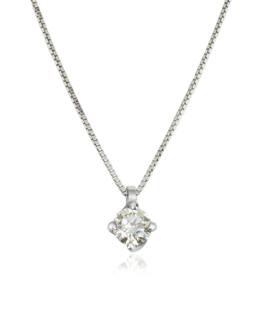 Forzieri | 0.23 Ctw Diamond Flower Pendant 18k White Gold Necklace | Lyst