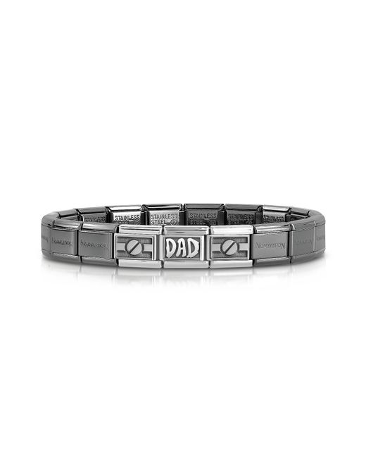 Nomination | Black Classic Dad Composable Stainless Steel And Sterling Silver Men's Bracelet for Men | Lyst