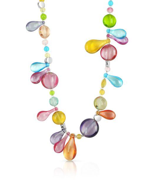 Antica Murrina - Multicolor Lapilli - Long Murano Glass Necklace - Lyst