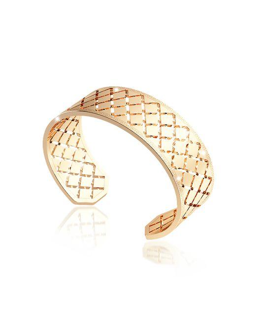 Rebecca - Melrose Yellow Gold Over Bronze Bangle Bracelet - Lyst