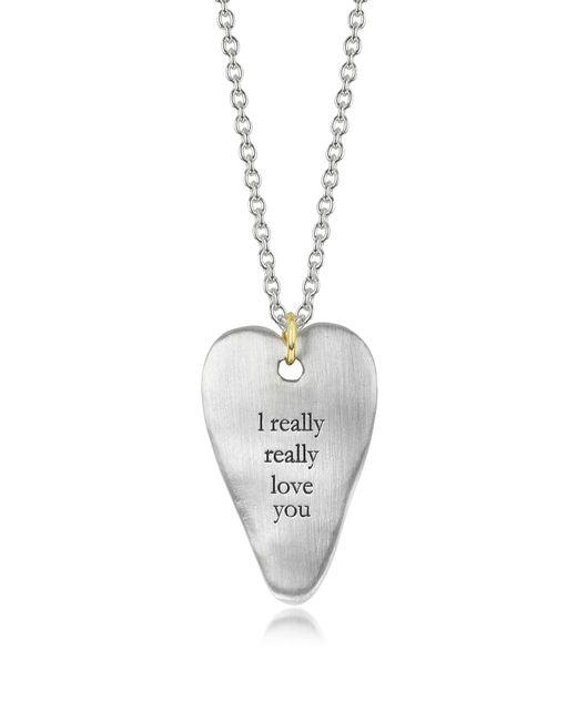 Bjorg - Metallic Love You Necklace - Lyst