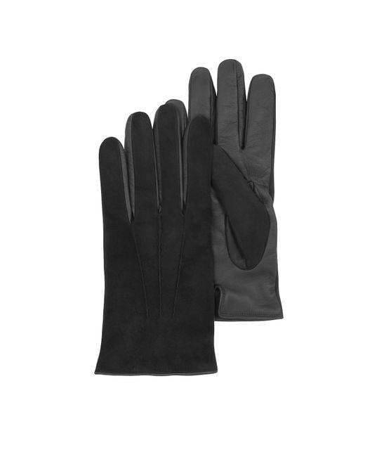 Forzieri - Black Herrenhandschuhe Touch Screen aus schwarzem Leder for Men - Lyst