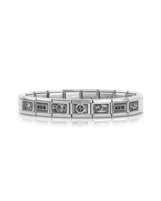 Nomination - Metallic Summer Sports Stainless Steel Men's Bracelet W/stearling Silver Symbols for Men - Lyst