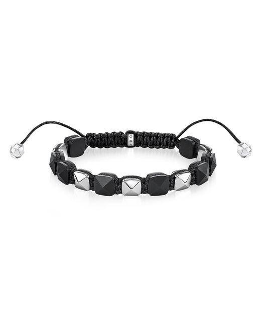 Thomas Sabo - Metallic Blackened Sterling Silver Studded Bracelet for Men - Lyst