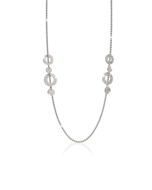 Rebecca Metallic R-ZERO Rhodium Over Bronze Necklace