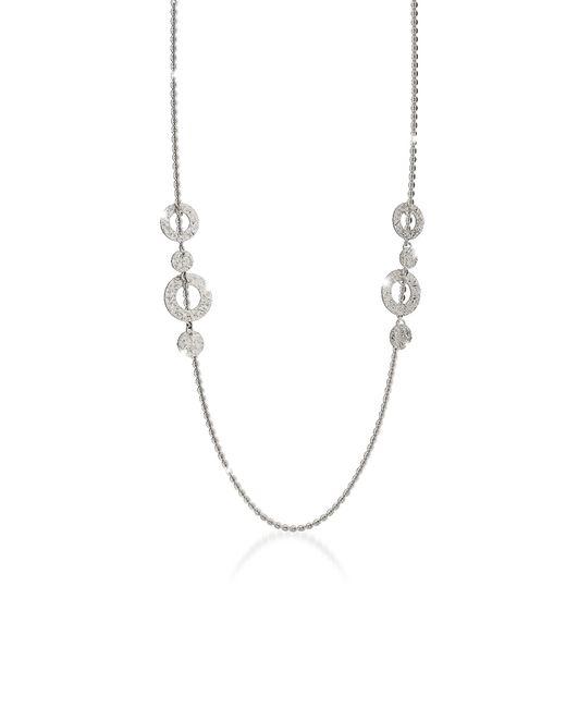 Rebecca Metallic R-ZERO Rhodium Over Bronze Necklace