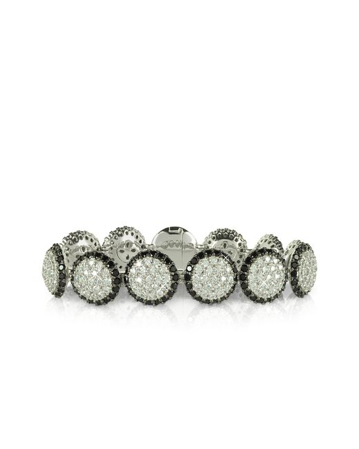 Azhar Metallic Two Tone Cubic Zirconia & Sterling Silver Bracelet