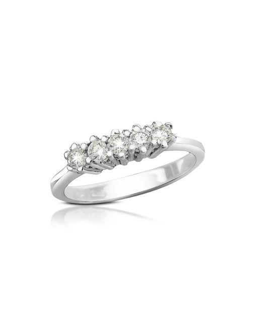 Forzieri - Metallic 0.225 Ct Diamond 18k Gold Band Ring - Lyst