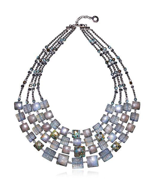 Antica Murrina - Gray Atelier Byzantium - Grey Murano Glass & Silver Leaf Choker - Lyst