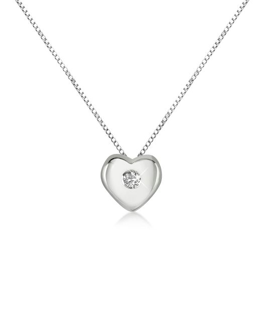 Forzieri - Metallic 0.15 Ct Diamond Heart 18k Gold Necklace - Lyst