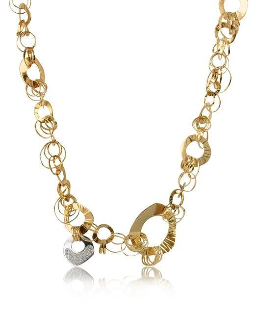 Orlando Orlandini | Metallic Fashion - Diamond 18k Rose Gold Chain Necklace | Lyst