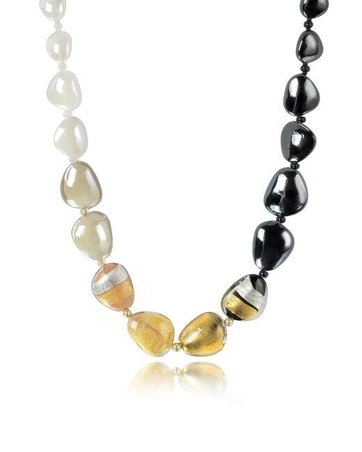 Antica Murrina - Metallic Moretta Pastel Glass Beads W/24kt Gold Leaf Necklace - Lyst