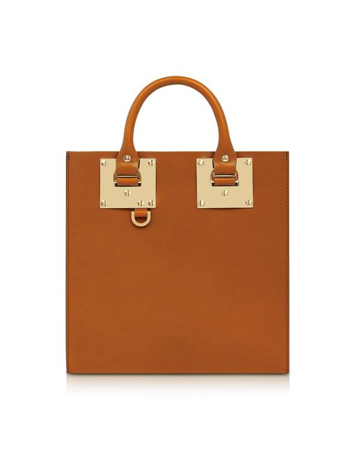 Sophie Hulme - Brown Tan Albion Square Leather Tote - Lyst