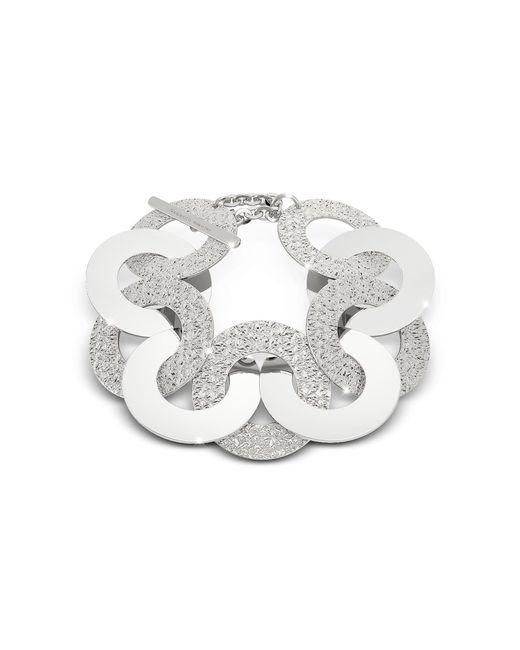 Rebecca   Metallic R-zero Rhodium Over Bronze And Steel Maxi Chain Bracelet   Lyst