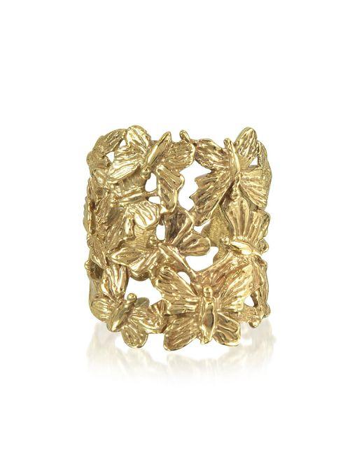 Bernard Delettrez   Metallic Butterflies Flat Bronze Ring   Lyst